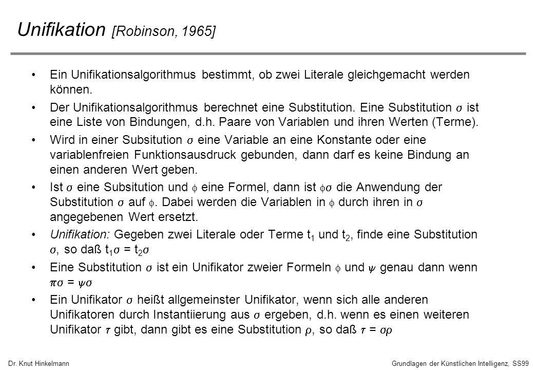 Unifikation [Robinson, 1965]